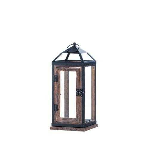 Wooden Trim Contemporary Lantern