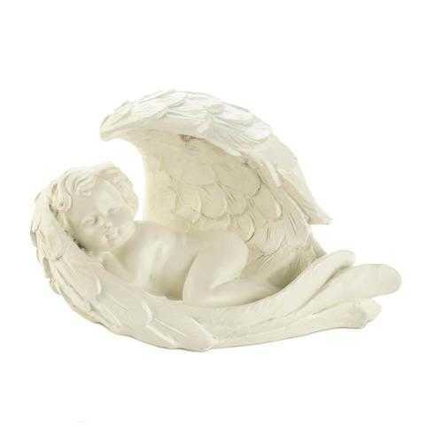 Peaceful Solar Cherub Figurine