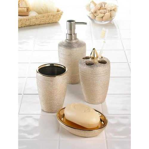 Golden Shimmer Bath Accessory Set