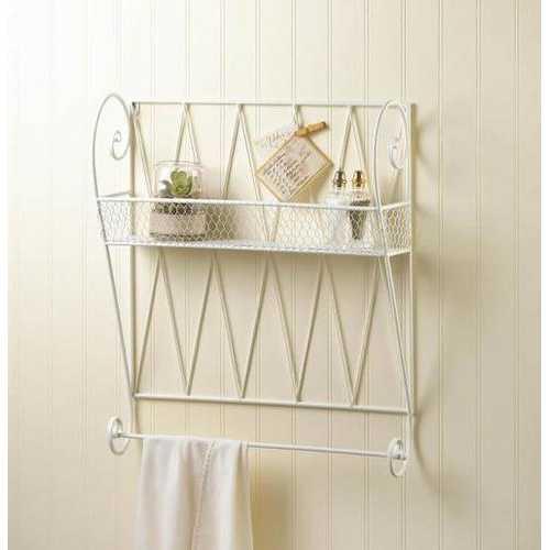 White Wire Wall Shelf