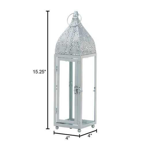Small Silver Moroccan Style Lantern