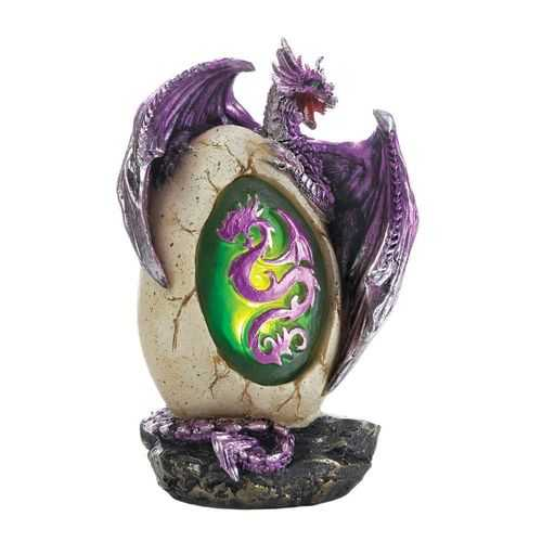 Purple Dragon Egg Statue