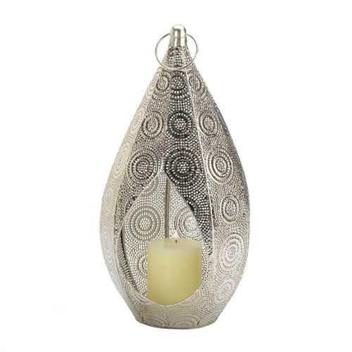 Silver Teardrop Lantern