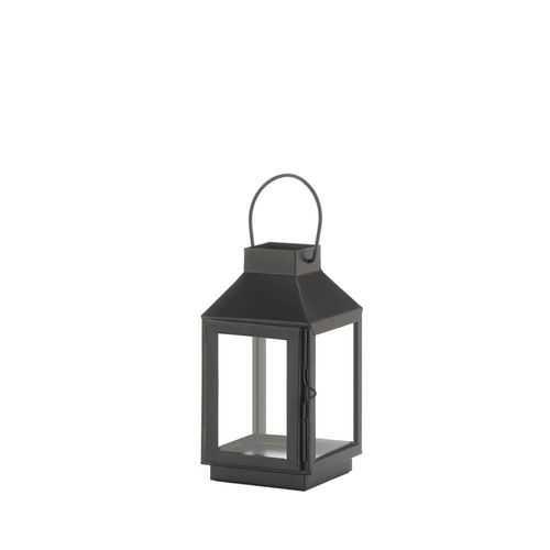 Mini Square Top Black Lantern