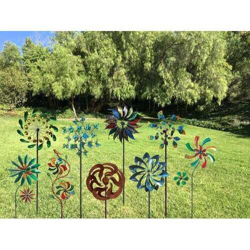 "78"" Spoon Solar Windmill Garden Stake"