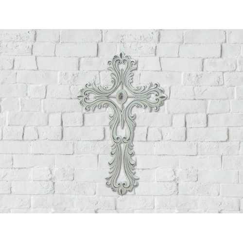 Scalloped White Cross