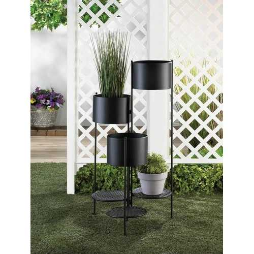 3-Tier Barrel Bucket Plant Stand