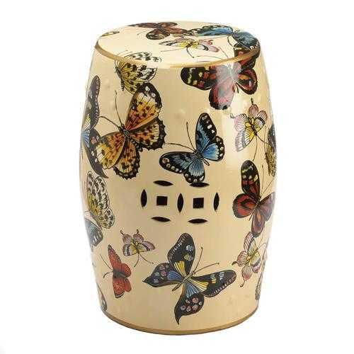 Butterflies In Flight Decorative Stool