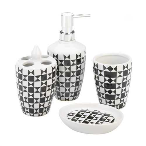 Geometric Bath Accessory Set