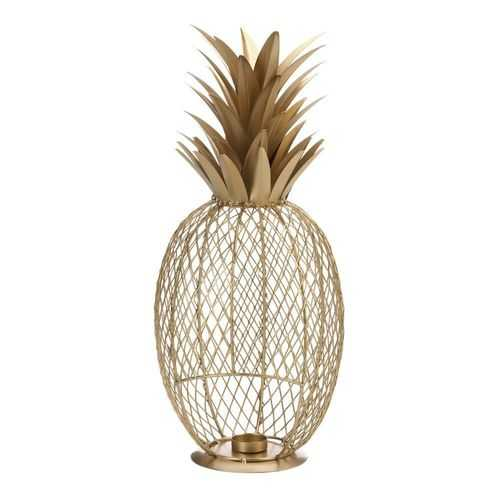 Golden Pineapple Tealight Holder