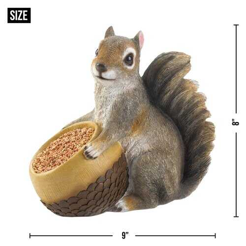 Squirrel & Acorn Bird Feeder