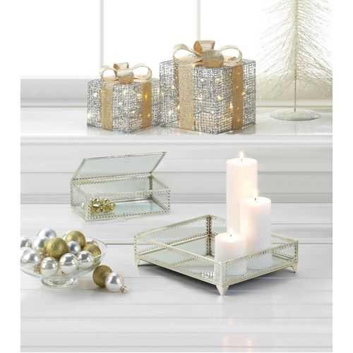 Large Light Up Gift Box Decor