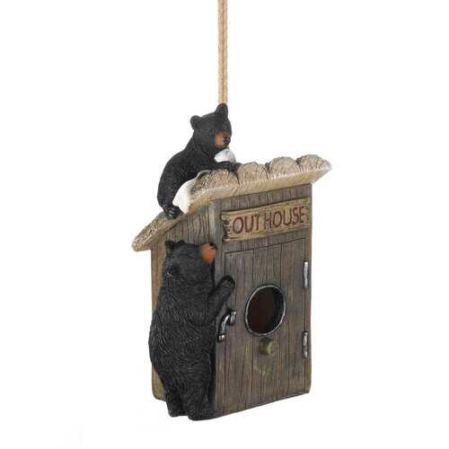 Black Bear Outhouse Birdhouse