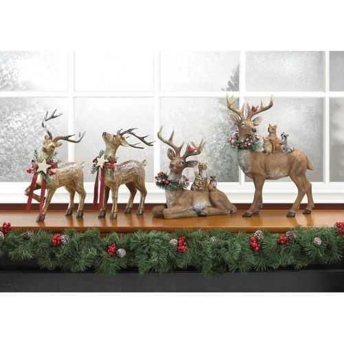 Sitting Woodland Reindeer Decor