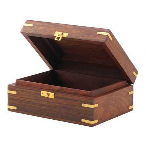 Carved Elephant Jewelry Box