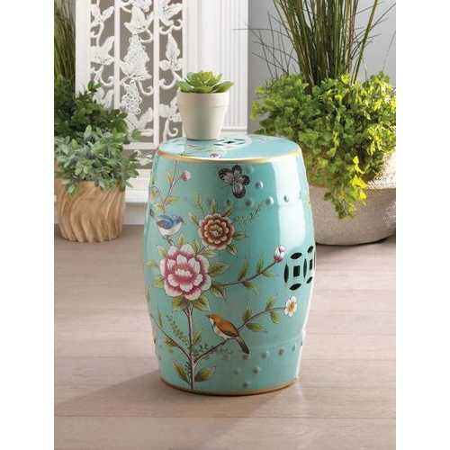 Colorful Floral Garden Stool