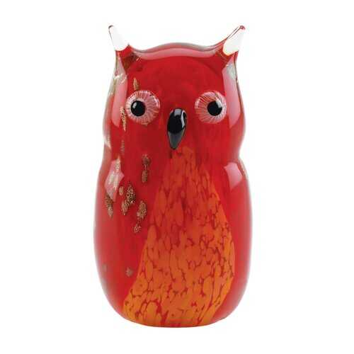 Red Owl Art Glass