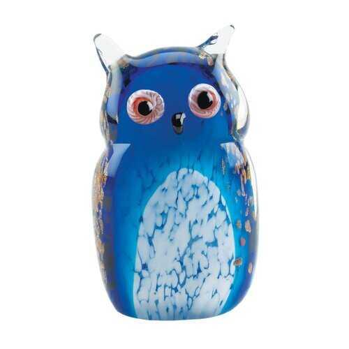 Blue Owl Art Glass