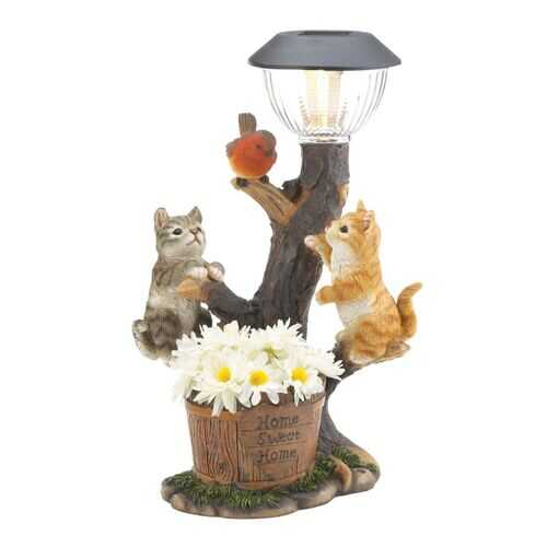 Climbing Cats Solar Light