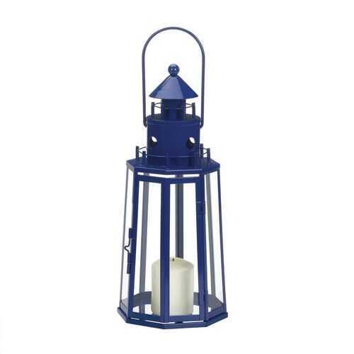 Blue Lighthouse Lantern