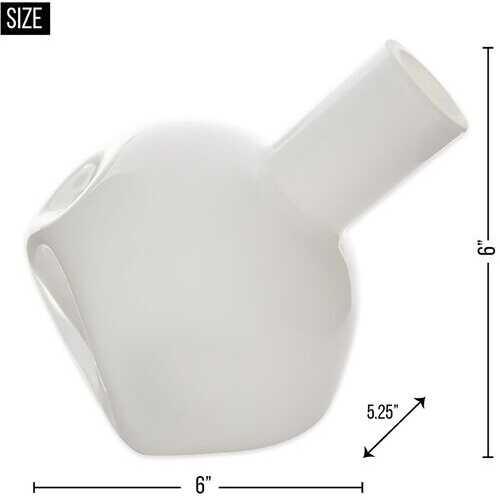White Abstract Vase