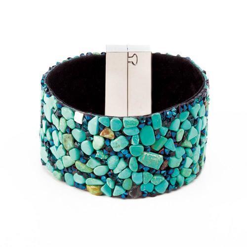 Magnetic Wide Stone Bracelet