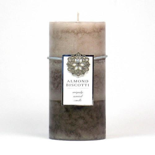 Almond Biscotti Pillar Candle 3X6