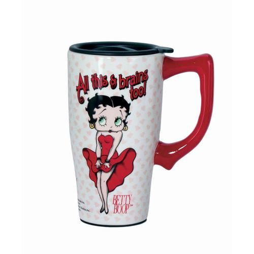 All This & Brains Too Betty Travel Mug