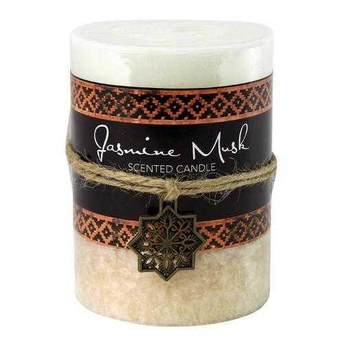 Jasmine Musk Moroccan Pillar Candle 3X4