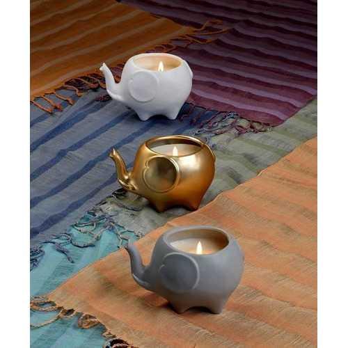 Elephant Candle - Matte Gold