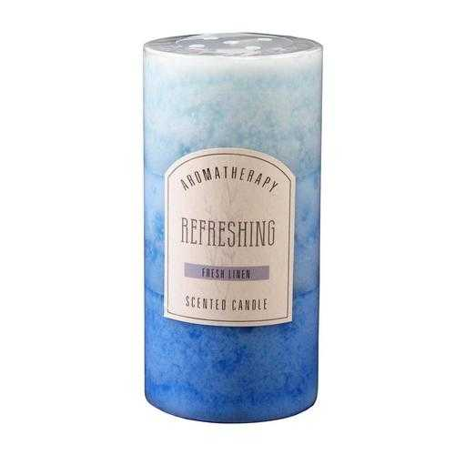 Fresh Linen Pillar Candle 3X6
