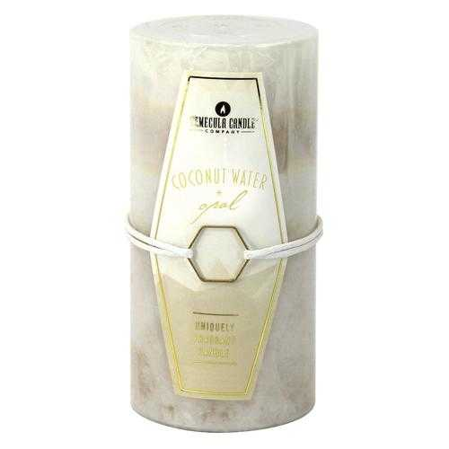 Coconut Water & Opal Pillar Candle 3X6