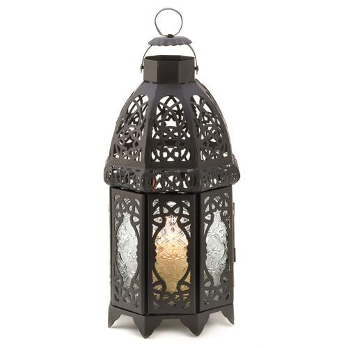 Black Lattice Lantern