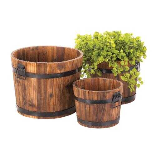 Apple Barrel Planters Trio