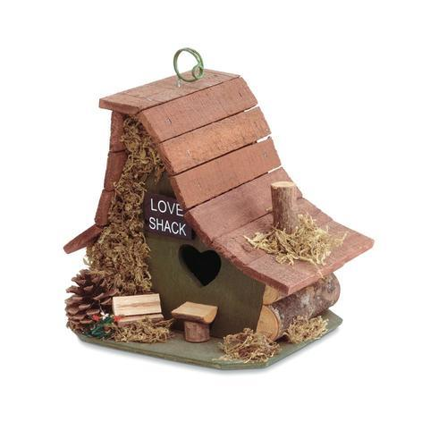 Wooden Love Shack Bird House