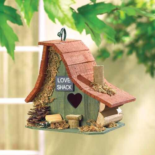 Wooden Love Shack Birdhouse