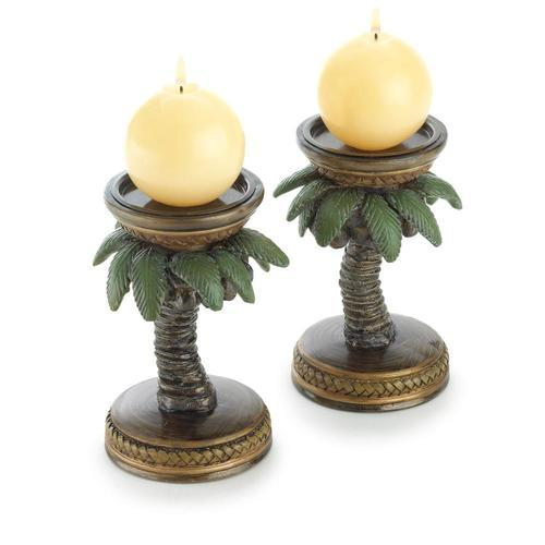 Coconut Tree Candle Holders