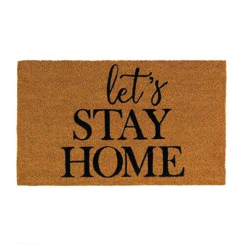Alice Lets Stay Home Coir Doormat