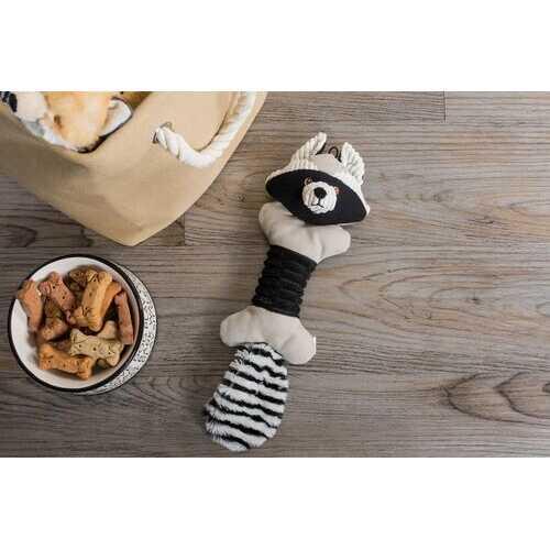 Raccoon Squeaky Bone Pet Toy