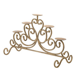 Antiqued Iron Candleabra - 5 Candle Stand