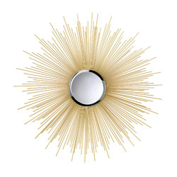 Category: Dropship India, SKU #10015862, Title: Golden Rays Sunburst Mirror