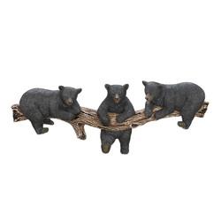 Category: Dropship Bath, SKU #10016200, Title: Black Bear Wall Hooks