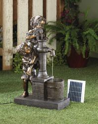 Category: Dropship Patio, Lawn & Garden, SKU #10016357, Title: Teamwork Water Pump Solar Fountain
