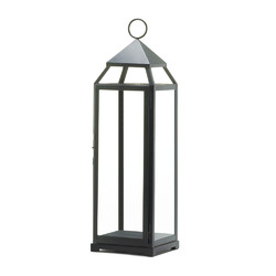 Category: Dropship India, SKU #10016910, Title: Tall Black Contemporary Lantern