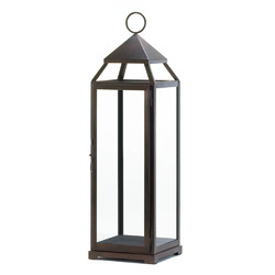 Category: Dropship India, SKU #10016911, Title: Tall Bronze Contemporary Lantern