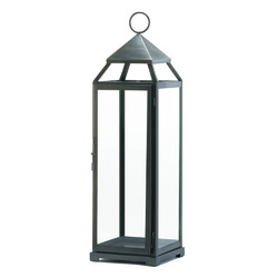Category: Dropship India, SKU #10016912, Title: Tall Brushed Silver Lantern