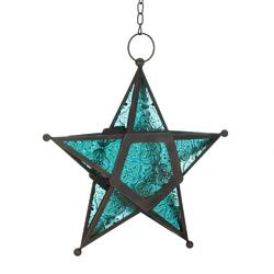 Blue Glass Star Lantern