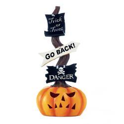 Spooky Halloween Lighted Pumpkin Sign