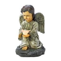 Category: Dropship Religious & Inspiration, SKU #10018300, Title: Solar Angel With Dove Statue