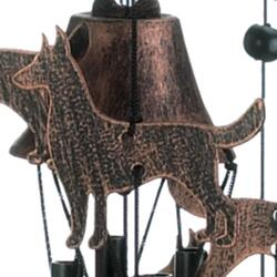 "26"" Bronze Dogs Wind Chimes"